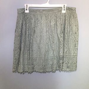 Sage green lace skirt